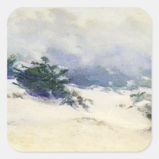 Misty Dunes, Carmel by Guy Rose Square Sticker