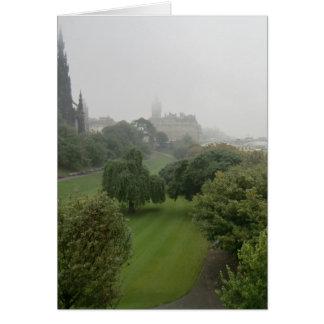 Misty Edinburgh from Mount Street Card