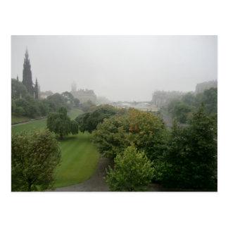 Misty Edinburgh from Mount Street Postcard