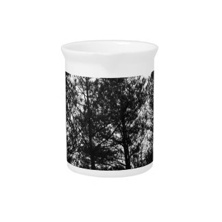 Misty Ethereal  Haunted Trees Forest Woods Fog Drink Pitcher