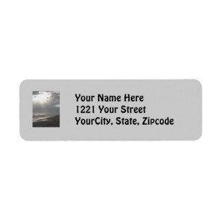 Misty Evening at Frisco Pier OBX Address Label