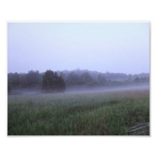 Misty Field  Art Photo Print