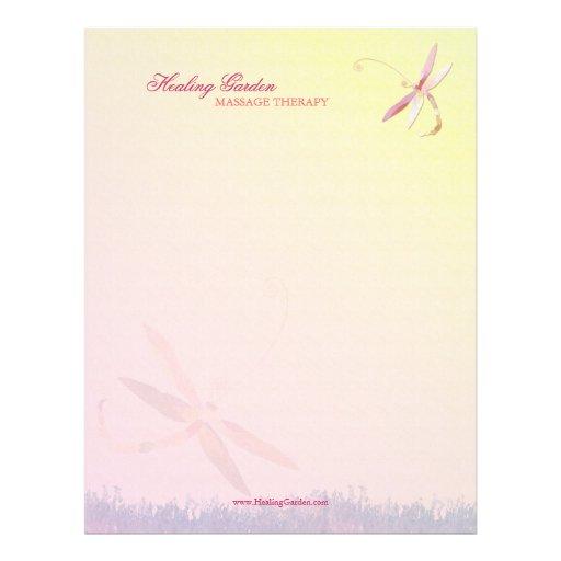 Misty Field Dragonfly Therapy Business Letterheads Letterhead Design
