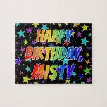 "[ Thumbnail: ""Misty"" First Name, Fun ""Happy Birthday"" Jigsaw Puzzle ]"