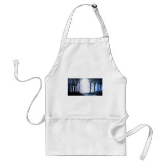 misty foggy forest adult apron