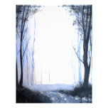 misty foggy forest personalized letterhead