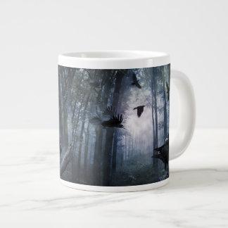 Misty Forest Crows Jumbo Mug