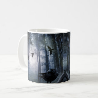 Misty Forest Crows Mug