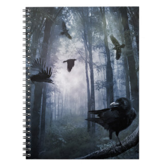 Misty Forest Crows Notebook