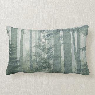 Misty Forest Lumbar Pillow