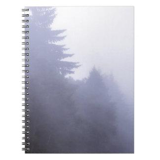 Misty forest notebook