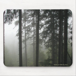 Misty Forest Wilderness Nature Photography Mouse Pad
