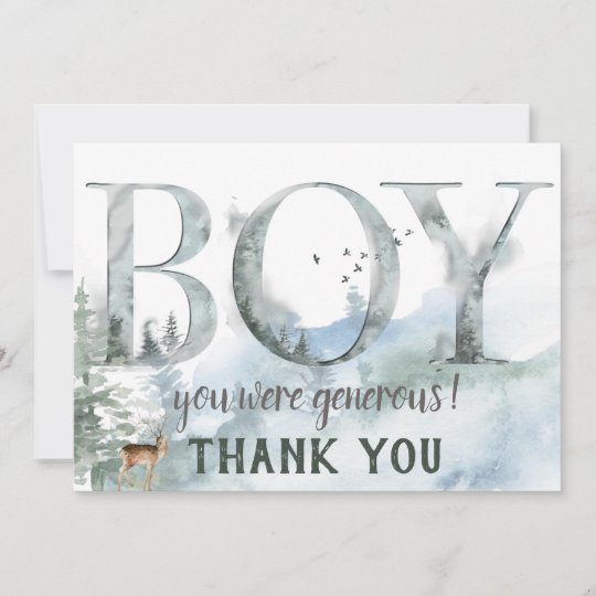 Woodland Animals Thank You 4.25 x 6 6 Different Images 60 Postcards