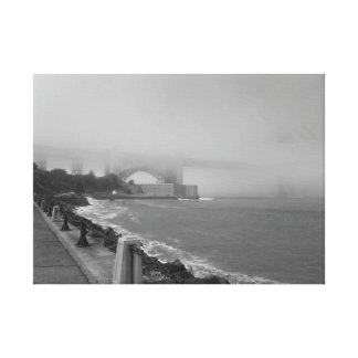 Misty Golden Gate Bridge Gallery Wrapped Canvas