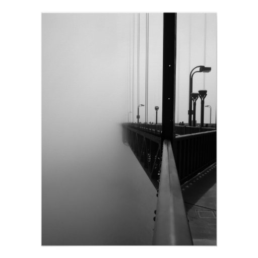 Misty Golden Gate Bridge II Poster