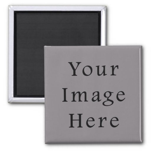 Misty Grey Color Gray Trend Blank Template Refrigerator Magnet