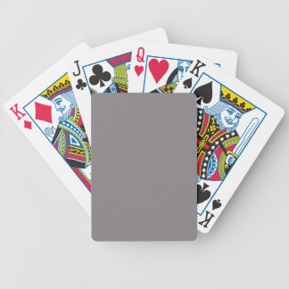 Misty Grey Color Gray Trend Blank Template Bicycle Card Deck