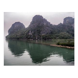 Misty Halong Bay Rock Forest Islands, Vietnam Postcard