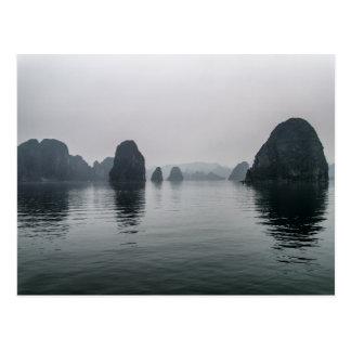 Misty Halong Bay Rock Islands, Vietnam Postcard