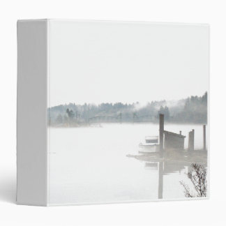 Misty Harbor Oregon Fog Coast Barge Binder
