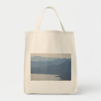 Misty Lake Tote Bags