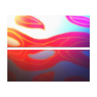 Misty Leaves Abstract Art Print Canvas Prints