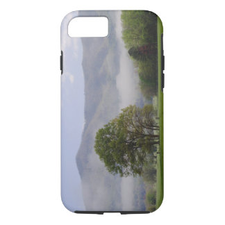 Misty meadow and Rich Mountain, Cades Cove, iPhone 7 Case