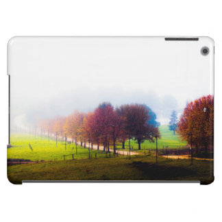 Misty meadow in autumn iPad air cases