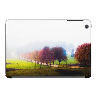 Misty meadow in autumn iPad mini retina cases