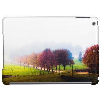 Misty meadow in autumn case for iPad air
