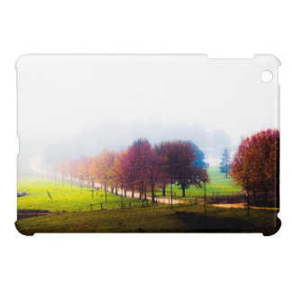 Misty meadow in autumn case for the iPad mini