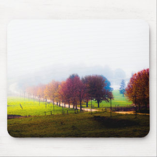 Misty meadow in autumn mouse pad