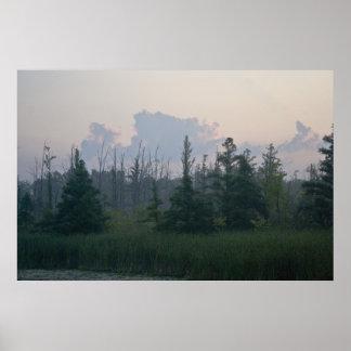 Misty Michigan Morning print