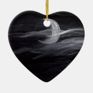 Misty Moon Ceramic Ornament