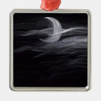 Misty Moon Metal Ornament