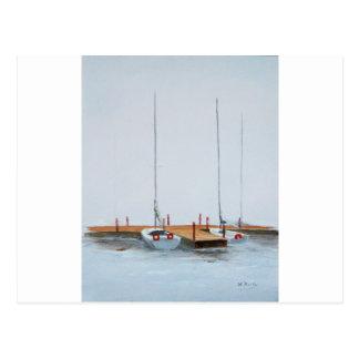 Misty mooring post card