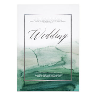 Misty Morning Abstract Landscape Autumn Wedding Card