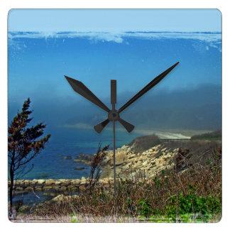 Misty Morning at Nobska Point - Cape Cod MA Square Wall Clock