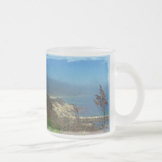 Misty Morning at Nobska Point - Cape Cod MA Frosted Glass Coffee Mug