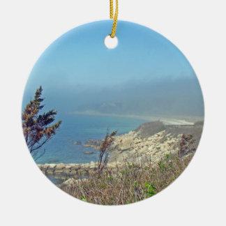Misty Morning at Nobska Point - Cape Cod MA Ornaments