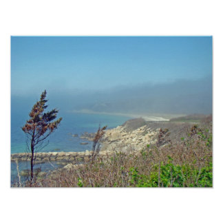 Misty Morning at Nobska Point - Cape Cod MA Poster