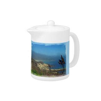 Misty Morning at Nobska Point - Cape Cod MA Teapot