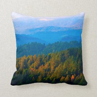 Misty Morning California Landscape Pillow