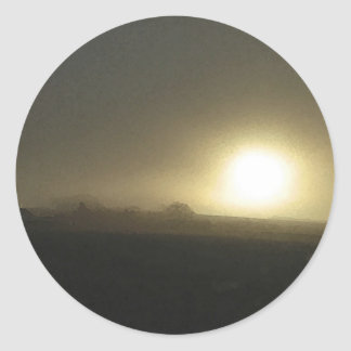 mIsty Morning Classic Round Sticker
