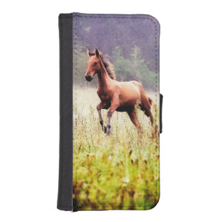 Misty Morning Frolick Horse Photography iPhone SE/5/5s Wallet
