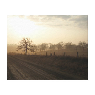 Misty Morning In March Canvas Print