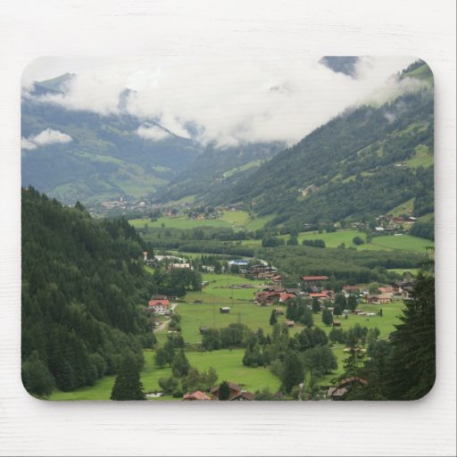 Misty morning in the Alps Mouse Pad