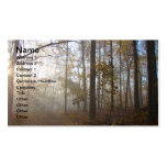 Misty Morning in the Forest Business Card Template