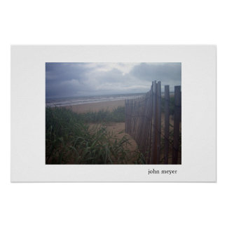 Misty Morning on Beach Posters