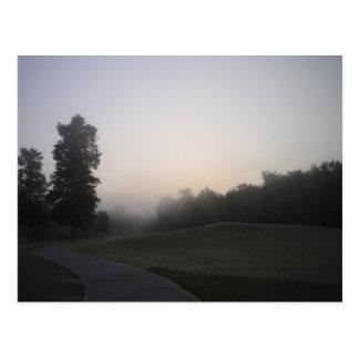 Misty Morning Path Postcard
